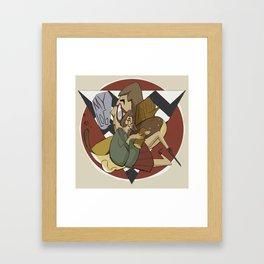 Log of My Life Framed Art Print
