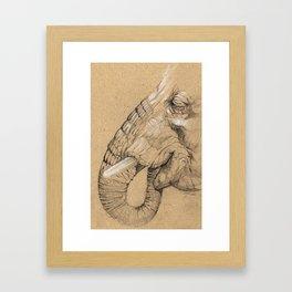 Elephant Sketch Framed Art Print