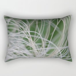 Abstract Image of Tropical Green Palm Leaves  Rectangular Pillow