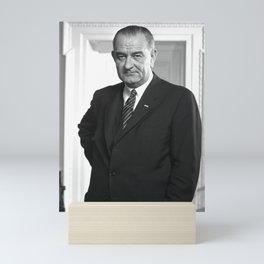 Lyndon B. Johnson Portrait Mini Art Print
