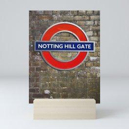 Notting Hill Gate Tube Sign Mini Art Print
