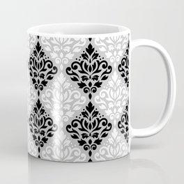 Scroll Damask Pattern BWG Coffee Mug