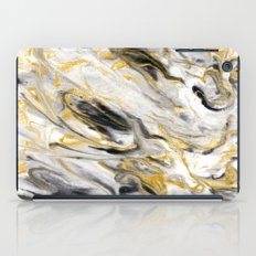Black and Gold Marble iPad Case
