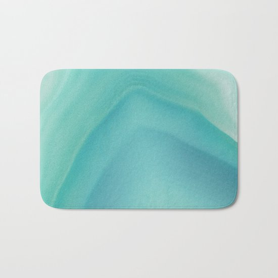 Geode Crystal Turquoise Bath Mat