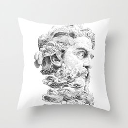 Neptune God of the Sea Throw Pillow