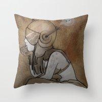 pilot Throw Pillows featuring Pilot by Captain MaryJane