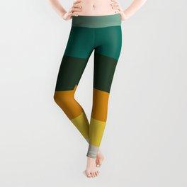 Colorful Green & Yellow Pattern Leggings