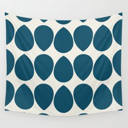 Wilma in Navy and Ivory Reverse Wall Tapestry