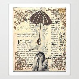 Handmade Collage Art Print