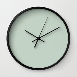Light Sage Green Solid Wall Clock