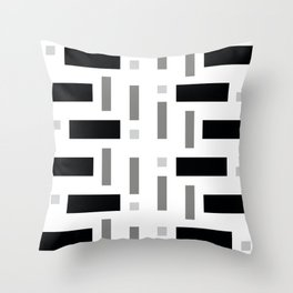 Pattern of Squares Throw Pillow