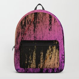 Soft Rain Style Abstract Magenta Yellow Gradient Backpack