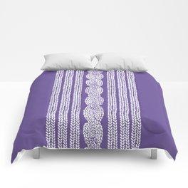 Cable Stripe Violet Comforters