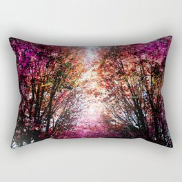 Pink Fire Rectangular Pillow