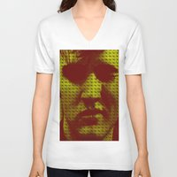 elvis V-neck T-shirts featuring Elvis by Ganech joe