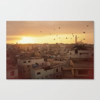 casablanca Canvas Prints featuring Casablanca by GF Fine Art Photography