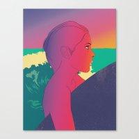 surfer Canvas Prints featuring Surfer by martiszu