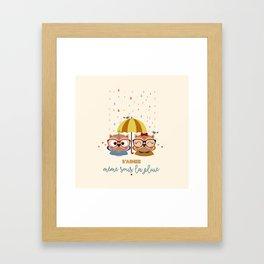 S'aimer même sous la pluie Framed Art Print