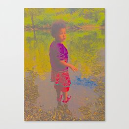 She Listens At Golden River And Feels An Overseeing Power Canvas Print