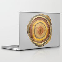 tree rings Laptop & iPad Skins featuring Tree Rings by Rachael Shankman