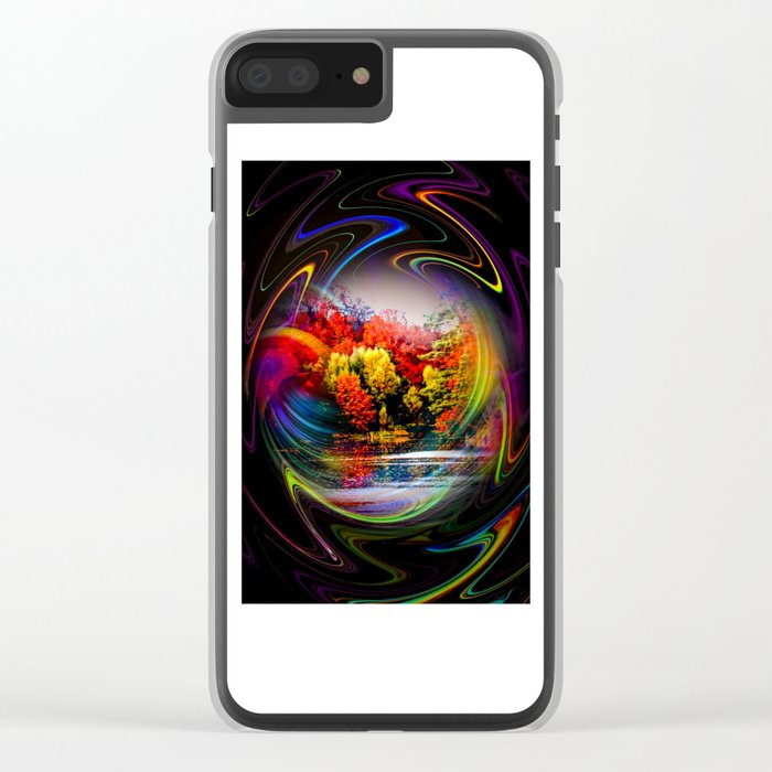 Abstract Perfection 42 Autumn Clear iPhone Case