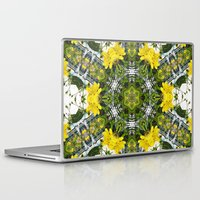 marc johns Laptop & iPad Skins featuring Kaleidoscope of showy St Johns Wort  by Wendy Townrow