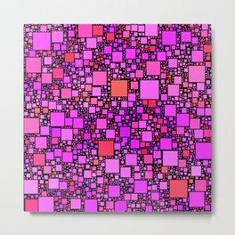 Post It Pink Metal Print