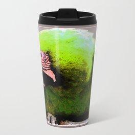 Endangered Great Green Macaw Metal Travel Mug