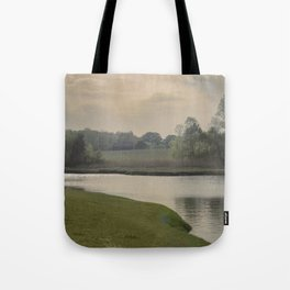 Hazy day on the Essex River Tote Bag