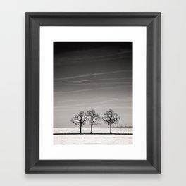 On line Framed Art Print