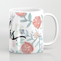 jenna kutcher Mugs featuring Mrs. - Calligraphy + Watercolor Floral  by Jenna Kutcher