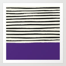 Purple Grape x Stripes Art Print