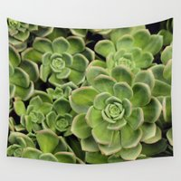 succulent Wall Tapestries featuring Succulent by Cynthia del Rio