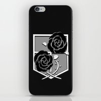 attack on titan iPhone & iPod Skins featuring Attack on Titan Stationary Guard by InVERT1X