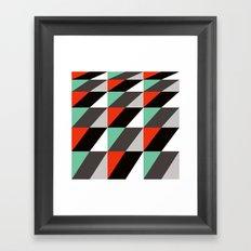 Falling squares Framed Art Print
