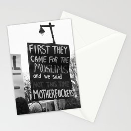 women's march philly Stationery Cards