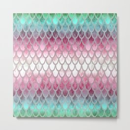 Pretty Mermaid Scales 20 Metal Print