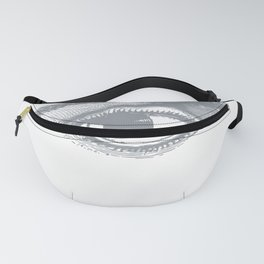 I see you. Gray on White Fanny Pack