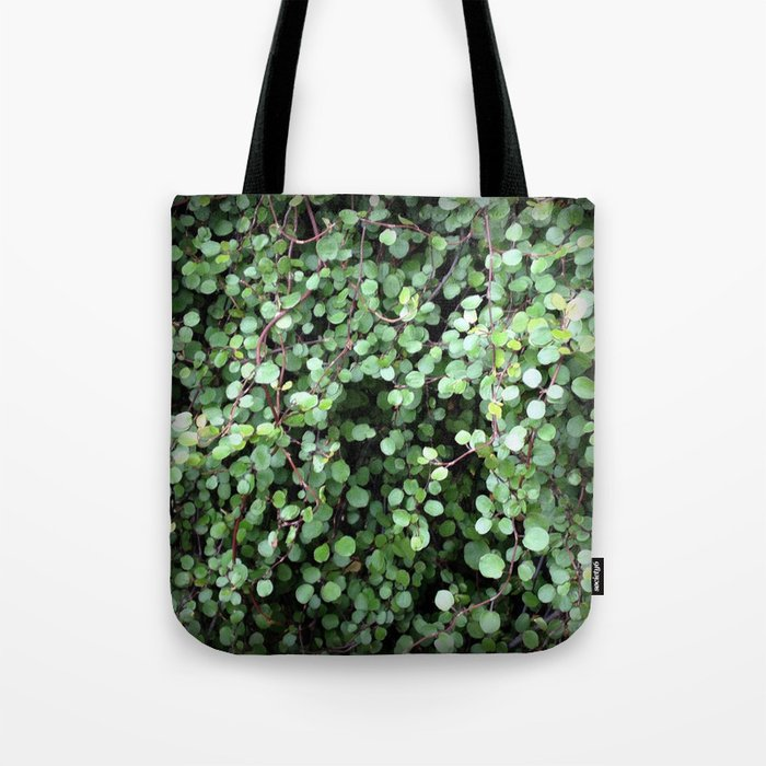 Flower | Flowers | Small Green Leaves | Leaf Vine Vignette Tote Bag