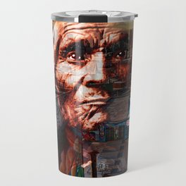 Ghost Tribe Native Americans in New York Sepia Travel Mug