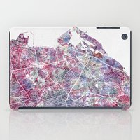 edinburgh iPad Cases featuring Edinburgh Map by MapMapMaps.Watercolors