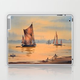 Thames Barges At Greenwich London Laptop & iPad Skin