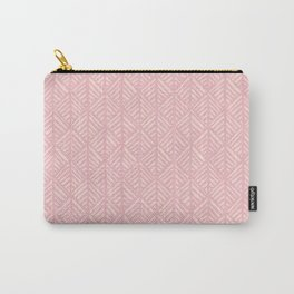 Abstract Leaf Pattern in Pink Carry-All Pouch
