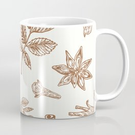 Seasonal Spices Pattern Coffee Mug
