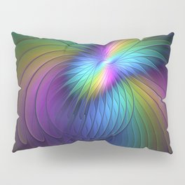Colorful and Luminous, Abstract Fractals Art Pillow Sham