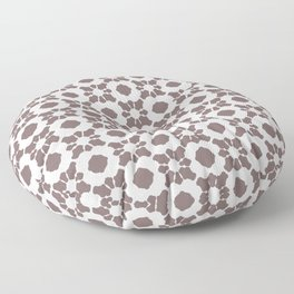 Purple Ornamental Flower Pattern Floor Pillow