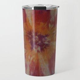 Tie Dye Orange Purple Red Travel Mug