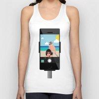 selfie Tank Tops featuring Selfie? by Chiara Belmonte