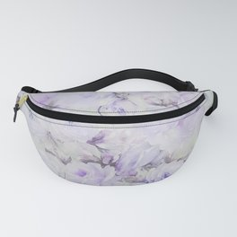 Vintage lavender gray botanical roses floral Fanny Pack