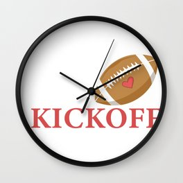 Classy Until Kickoff Football Fan Or Footballer Gift Wall Clock